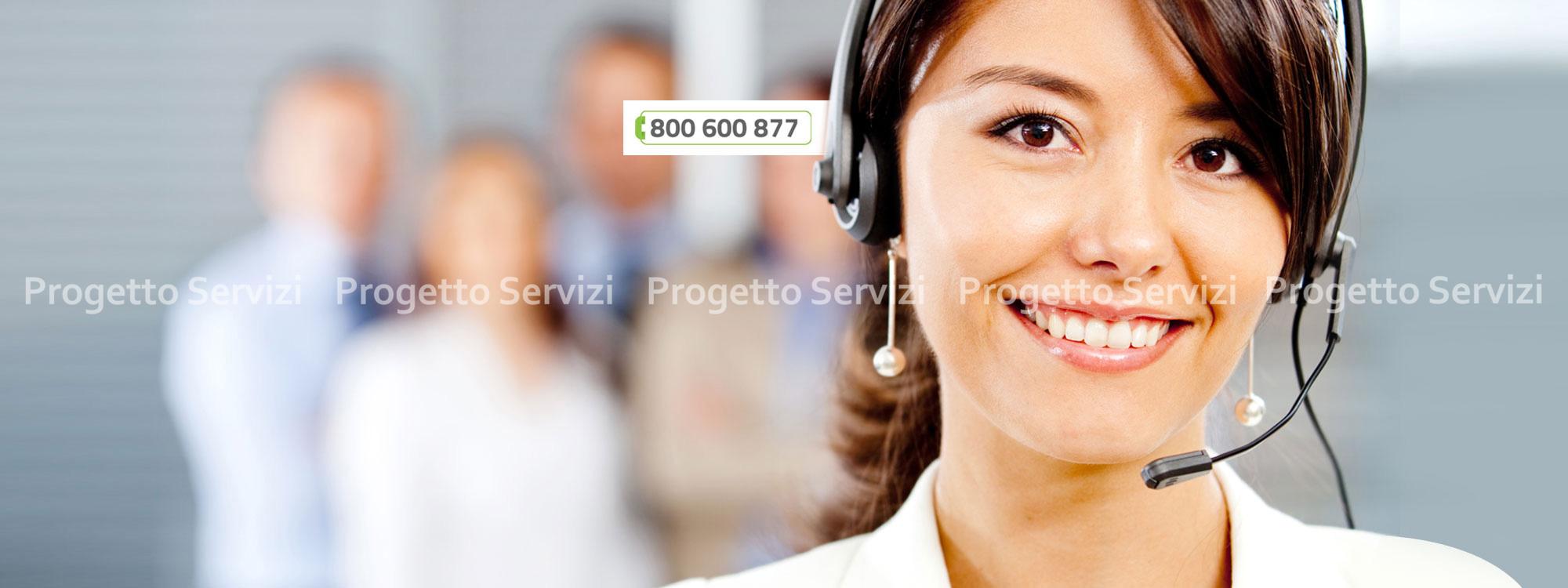 Attivo il nuovo numero verde - Progetto Servizi
