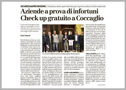 """""""Aziende a prova di infortuni Checkup gratuito a Coccaglio"""""""